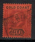 GOLD COAST - 1902 20/- (SG 48) FORGERY cancelled SHERIBO.