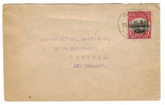 NIUE - 1928 1d rate commercial cover to New Zealand.
