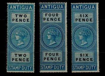 ANTIGUA - 1870 2d, 4d and 6d