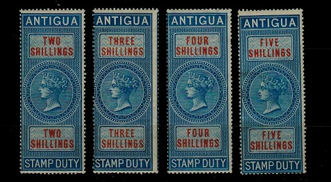 ANTIGUA - 1870 2/-, 3/-, 4/- and 5/-