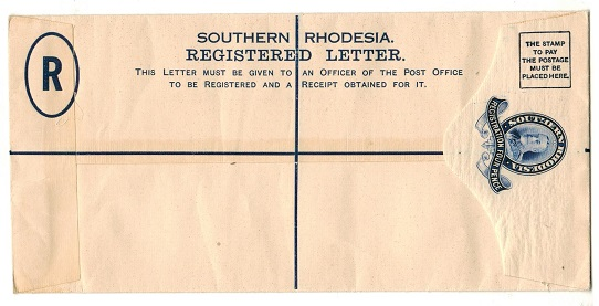 SOUTHERN RHODESIA - 1931 4d dark blue RPSE (size H2) unused.  H&G 2a.