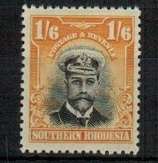 SOUTHERN RHODESIA - 1924 1/6d black and yellow fine mint.  SG 11.