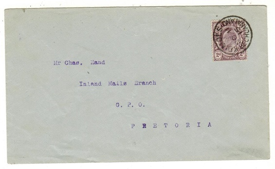BECHUANALAND - 1915 cover to Pretoria bearing Transvaal 2d tied KEIMOES/BECHUANALAND.