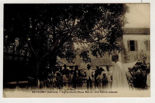 GAMBIA - 1930 (circa) unused postcard depicting Bathurst Agriculture Show.