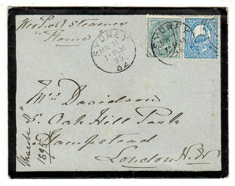 AUSTRALIA (New South Wales) - 1895 2 1/2d rate cover to UK used at SYDNEY.