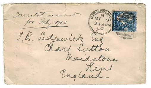 AUSTRALIA (South Australia) - 1900 2 1/2d rate cover to UK used at GPO ADELAIDE.
