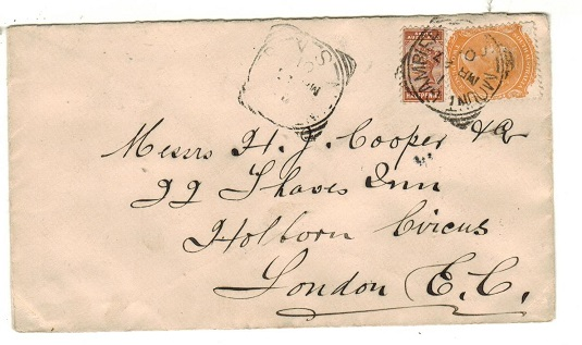 AUSTRALIA (South Australia) - 1901 2 1/2d rate cover to UK used at MOUNT GAMBIER.