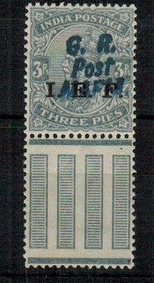 TANGANYIKA (MAFIA) - 1917 3ps grey overprinted