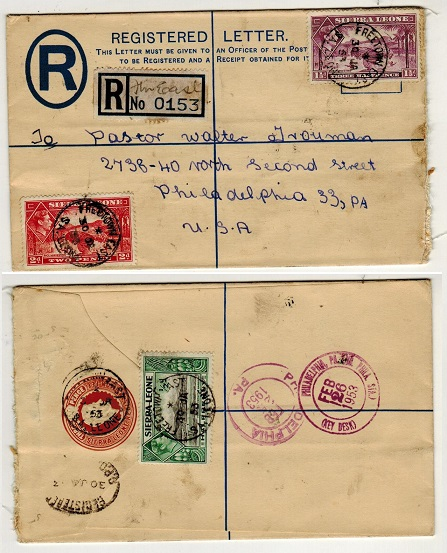 SIERRA LEONE - 1938 3d brown RPSE uprated and used at FREETOWN EAST. H&G 5.