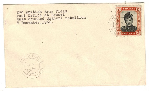 BRUNEI - 1962 use of unaddressed FIELD POST OFFICE/1044 cover.