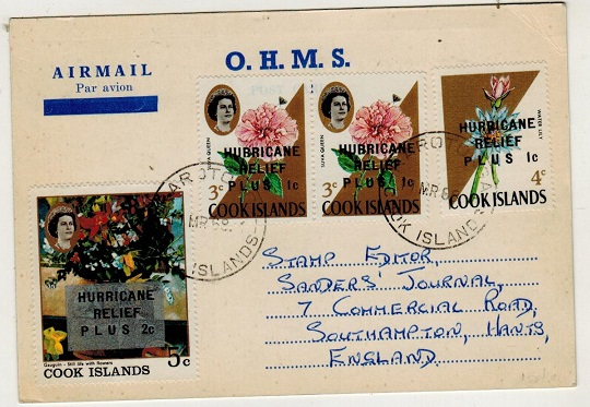 COOK ISLANDS - 1968 use of