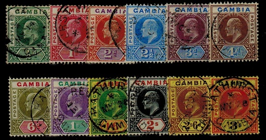 GAMBIA - 1902 series of 12 all fine used.  SG 45-56.