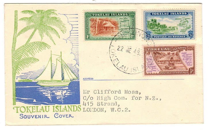 TOKELAU - 1948 first day cover from NUKUNONO.