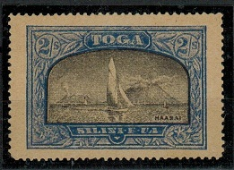 TONGA - 1897 2/- Black and ultramarine (SG type 21) mint FORGERY.