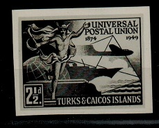 TURKS AND CAICOS IS - 1949 2 1/d
