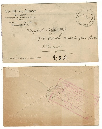AUSTRALIA - 1930 stampless