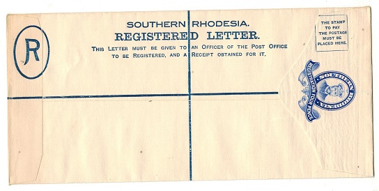 SOUTHERN RHODESIA - 1924 4d ultramarine RPSE (size H2) unused.  H&G 1a.