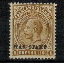 FALKLAND ISLANDS - 1920 1/- brown