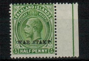 FALKLAND ISLANDS - 1920 1/2d dull yellow green