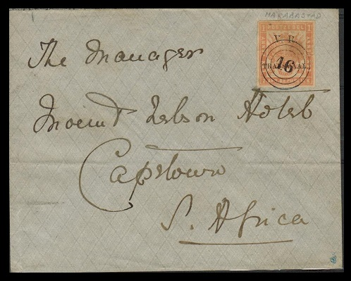 TRANSVAAL - 1900 (circa) use of 1d rate cover to CapeTown cancelled by believed forged