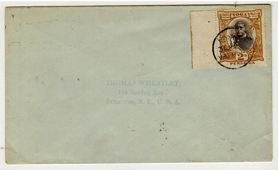 TONGA - 1903 2d on cover to USA used at NUKUALOFA.