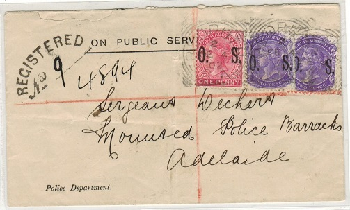 AUSTRALIA (South Australia) - 1902 5d registered