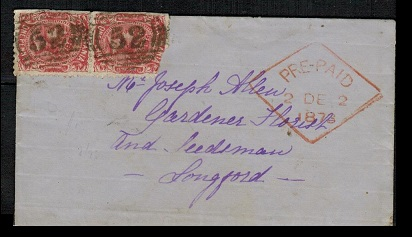 AUSTRALIA (Tasmania) - 1873 2d rate local cover with