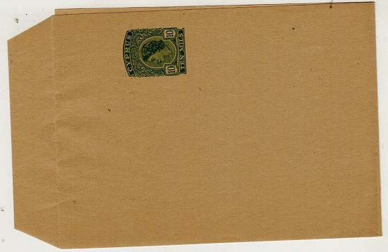 CYPRUS - 1954 10m green postal stationery wrapper unused.  H&G 18.