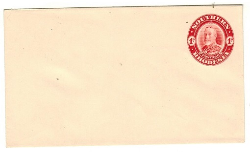 SOUTHERN RHODESIA - 1931 1d Red on white postal stationery envelope unused.  H&G 4.