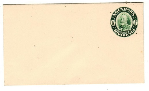 SOUTHERN RHODESIA - 1931 1/2d Green on white postal stationery envelope unused.  H&G 3.