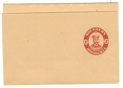 SOUTHERN RHODESIA - 1924 1d red