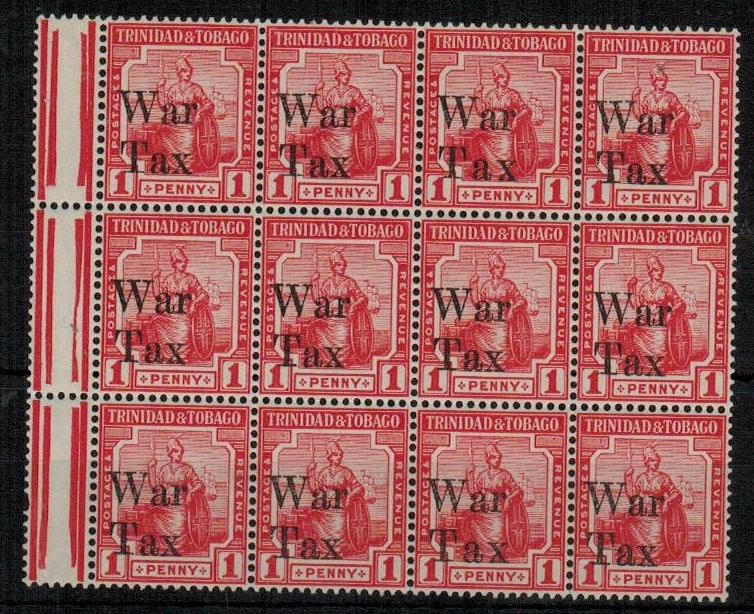 TRINIDAD AND TOBAGO - 1918 1d scarlet