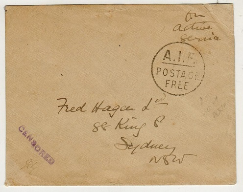 AUSTRALIA - 1916 stampless