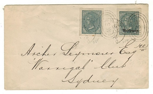 AUSTRALIA (New South Wales) - 1892 cover to Sydney with postal stationery