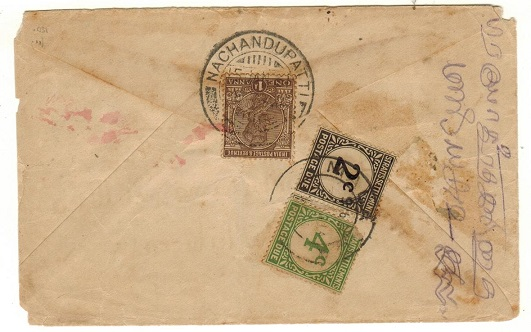 MALAYA (Malacca) - 1931 inward underpaid cover with Straits 2c and 4c