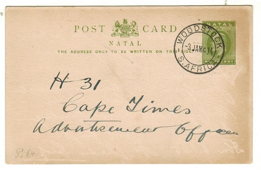 CAPE OF GOOD HOPE - 1914 use of 1/2d green