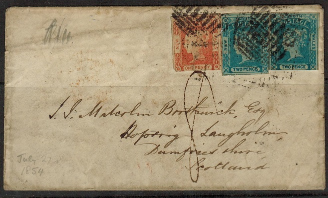 AUSTRALIA (New South Wales) - 1854 5d rate
