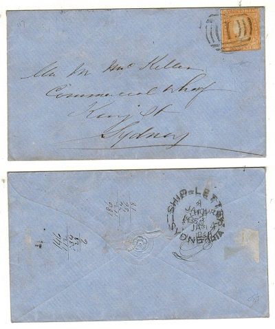 AUSTRALIA (Victoria) - 1857 6d rate local cover.