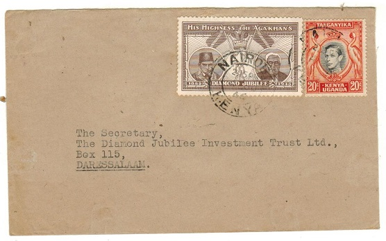 K.U.T. - 1946 20c rate local cover with