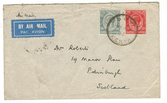 K.U.T. - 1933 65c rate cover to UK used at SOY.