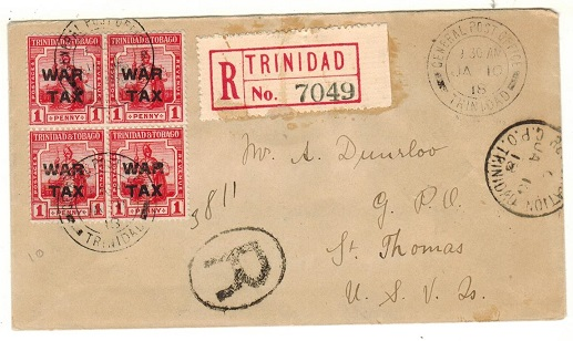 TRINIDAD AND TOBAGO - 1918 1d