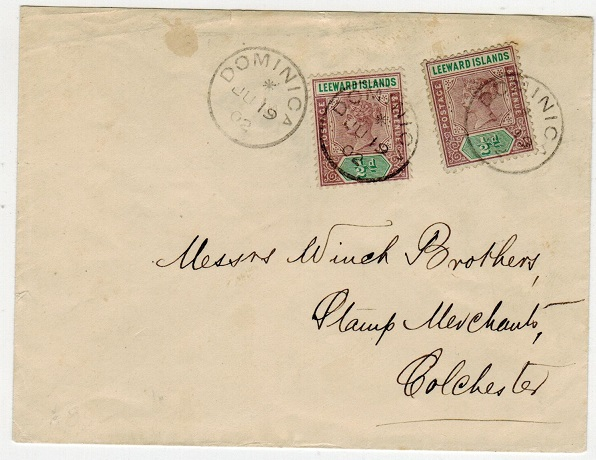 DOMINICA - 1902 1d rate cover to UK.
