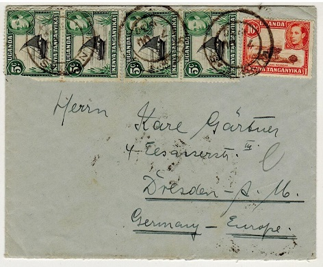 K.U.T. - 1938 31c rate cover to Germany used at KUNGUTAS.