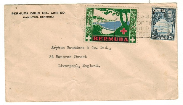 BERMUDA - 1941 2 1/2d rate cover to UK with