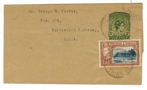 TRINIDAD AND TOBAGO - 1937 1c green postal stationery wrapper used at CANANN.  H&G 4.