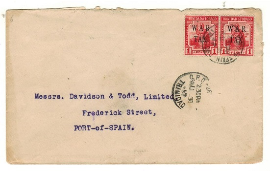 TRINIDAD AND TOBAGO - 1917 1d (x2)