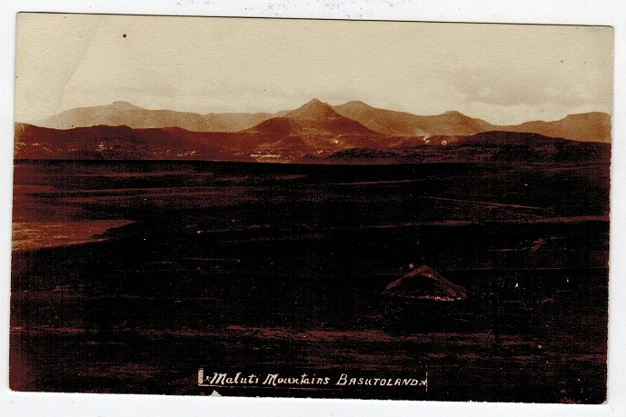 BASUTOLAND - 1905 (circa) real photo unused postcard of