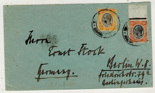 TANGANYIKA - 1932 30c rate cover to Germany used at KILIMANJARO/TPO-UP.