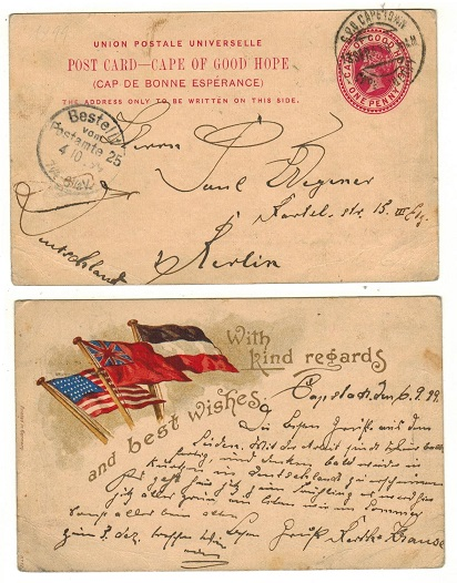 CAPE OF GOOD HOPE - 1898 1d carmine PSC to Germany with