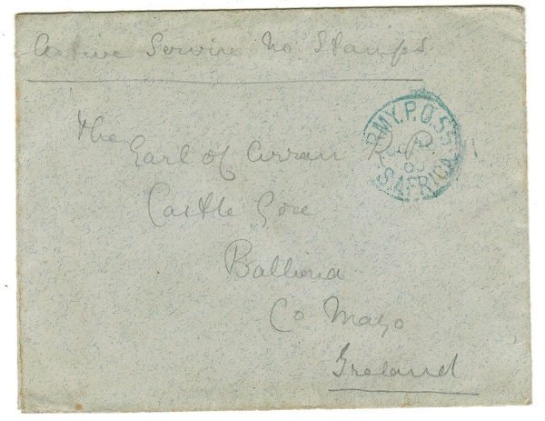 TRANSVAAL - 1900 stampless cover to Ireland used at ARMY P.O./55 used at MACHADODORP.